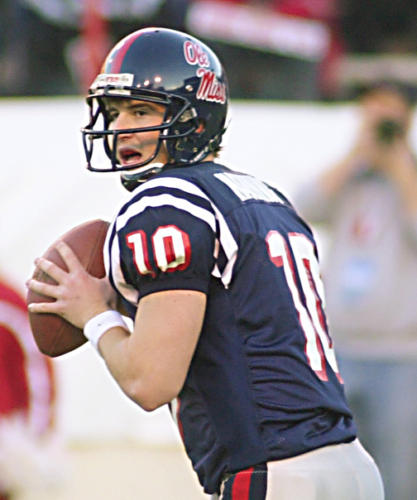 2001 and 2003 - Eli Manning - University of Mississippi